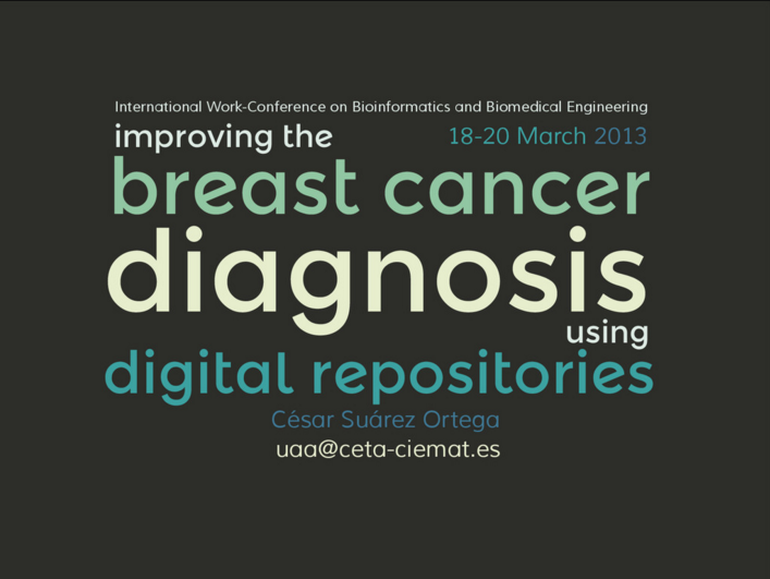 Improving the breast cancer diagnosis using digital repositories