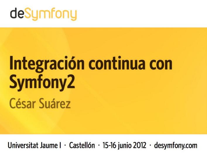 Integración Continua y Symfony2